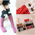Funny Kawaii Cotton Kids Girls Leg Warmer Cartoon Knee Socks Multicolor Knee Protector for Children 30cm