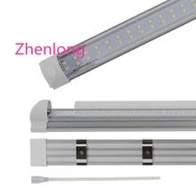 LED Tube 4FT 5FT 6FT 8FT LED T8 Tubes Double Row T8 integrated LED Light Bulbs SMD2835 led fluorescent lighting Lamps UPS ship стоимость