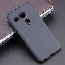 Черный гелевый ТПУ тонкий мягкий Противоскользящий чехол задняя крышка для LG Nexus 5X 5X5,2 дюймов искусственная Резина силиконовая сумка Coque Fundas
