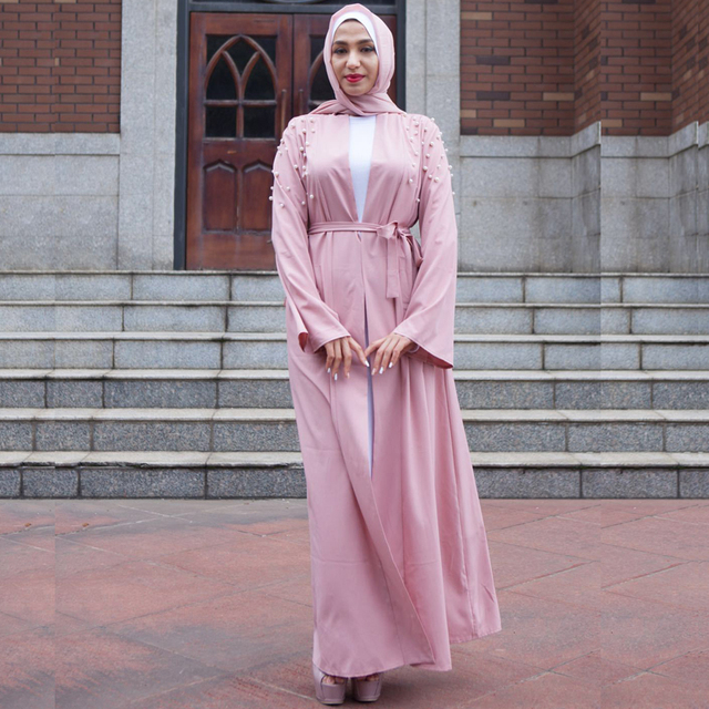 8f48cfa780 2018 Abaya Muslim Dress Dubai Eid Islamic Kaftan Abayas For Women Kimono  Ramadan Open Turkish Clothing Caftan Girls Cardigan