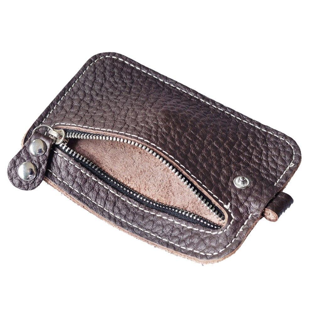 Men Leather Coin Purse Fashion Clutch Card Holder Small Change Purse Wallet Key Bag portamonete uomo