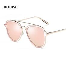 Versa ROUPAI 2018 Moda Polarizada óculos de Sol das Mulheres Aviador Óculos  de Sol Feminino Marca Original Rosa Gozluk Legal Mul. faab3c00ed