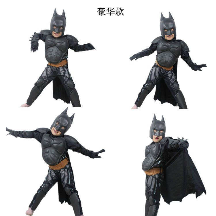 Haloween batman costume outfit/Mask Blue LED Eyes Halloween Make ...