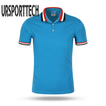 Summer Solid Color Breathable Classic Mens Polo Shirt Brand Clothing Short-Sleeved Recreational