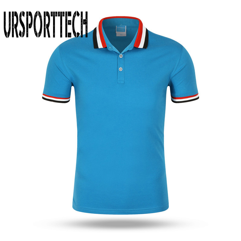Summer Solid Color Breathable Classic Men's   Polo   Shirt Brand Clothing Men's Short-Sleeved Recreational   Polo   Shirt