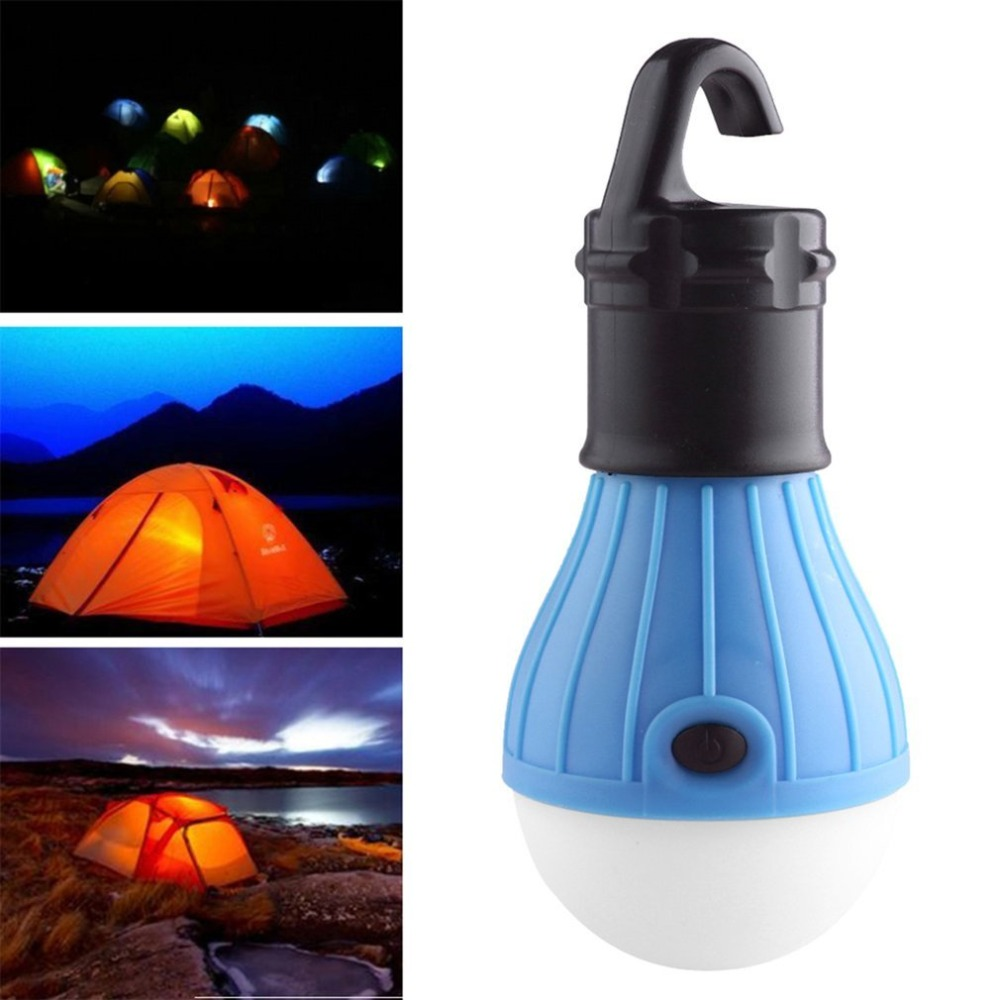 Mini Portable Emergency Camping Battery Powered Soft Night Light Lantern Tent Hanging Hook Light for Camping Fishing Hiking