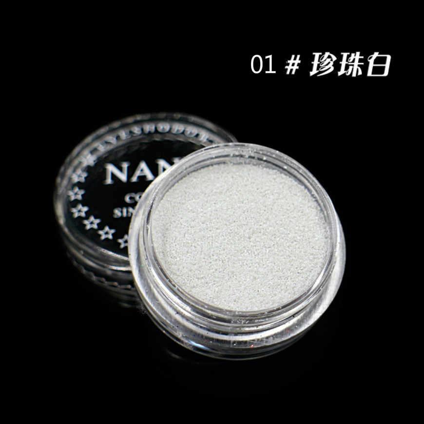 1 תיבת פנינה לבן 23 צבעים אופציונלי מונוכרום אבקת צל נשים יופי עין איפור Shinning גליטר אבקת לעשות ml5