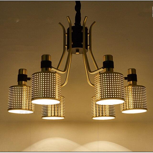 Gold Postmodernen Anhänger Kronleuchter Für Esszimmer Schlafzimmer  Engineering Modell Zimmer Schaufenster Metallabdeckung Schatten Kronleuchter  Glanz