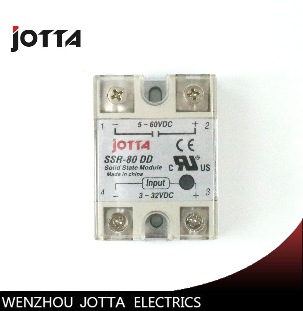 SSR -80DD DC control DC SSR white shell Single phase Solid state relay 80A input 3-32V DC output 5~60V DC ssr 40dd 40a dc control dc ssr white shell single phase solid state relay 10a input 3 32v dc output 5 60v dc