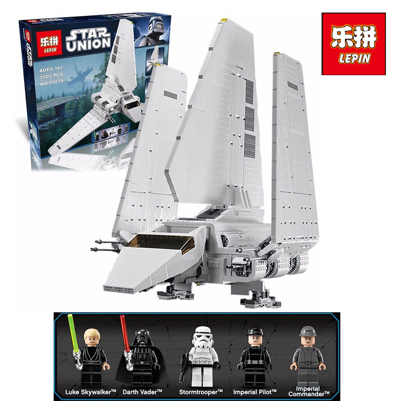 LEPIN 05034 2503pcs Star Series War The Shuttle Building Blocks Bricks Assembled Toys Compatible with legoINGlys 10212 Gifts