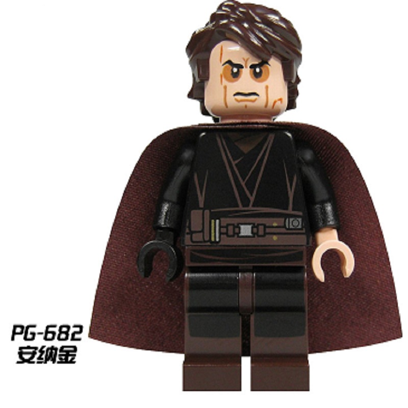 Single Sale PG682 Anakin Figures Star Wars Padawan Skywalker action Building Blocks coll ...