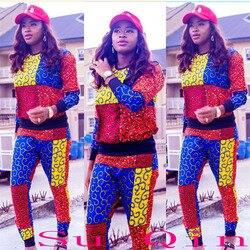 Afrikanische Neue Dashiki Stil Langarm Nationalen Kostüm Trainingsanzug Für Dame (TZ01 #)