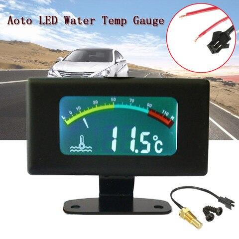 12 v 24 v 36 v dc digital led medidor de temperatura da agua do