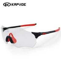 Kapvoe Photochromic Cycling Glasses Men Women Sports MTB Mountain Road Bike Bicycle Cycling Sunglasses Eyewear EV