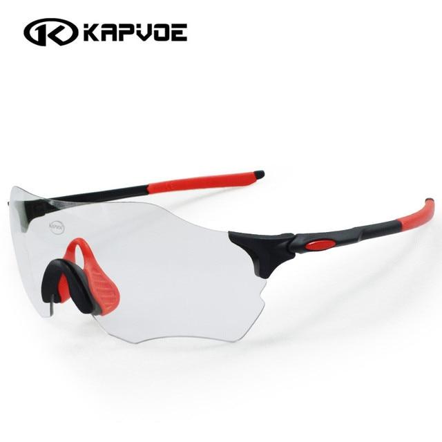 e0c28e7ff0 Kapvoe Photochromic Cycling Glasses Men Women Sports MTB Mountain Road Bike  Bicycle Cycling Sunglasses Eyewear UV400