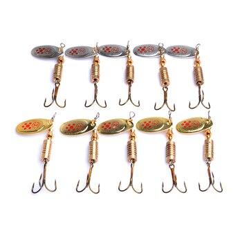 50 шт., жесткая металлическая блесна, Спиннер-ложка, рыболовные приманки 7,3 г 6,5 см 4 #, японские крючки, Воблер для окуня, рыболовные снасти, рыб...