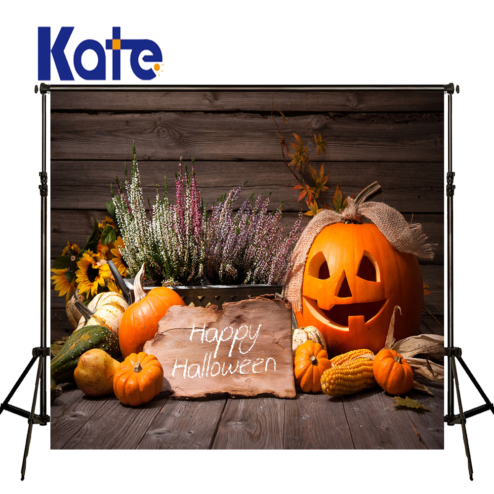 Kate 10x10ft Halloween Backdrop Wood Floor Background Halloween Pumpkin Backdrops Children Photography Backdrop for Photo Studio allenjoy background for photo studio full moon spider black cat pumpkin halloween backdrop newborn original design fantasy props