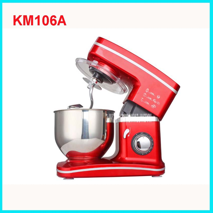 FM106 Elettrico 5.5L chef home kitchen cooking food mixer stand torta di pasta di pane mixer macchina 1000 W 220V/ 50Hz 8 speed цена и фото