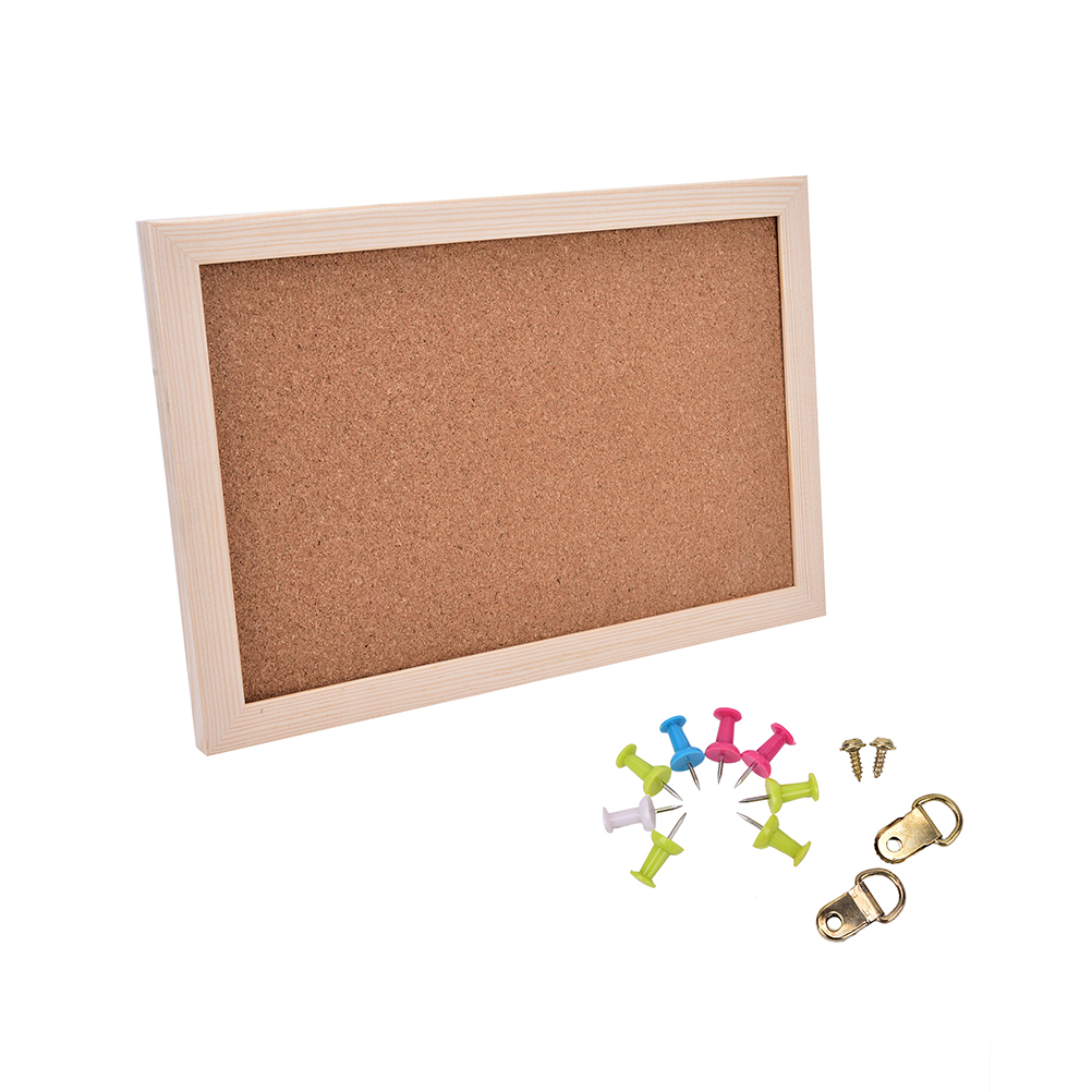 NNRTS Office Board Photo Cork Board Wood Framed Message Notice Board 20*30cm Pin Boards Cork For Home With Accessories