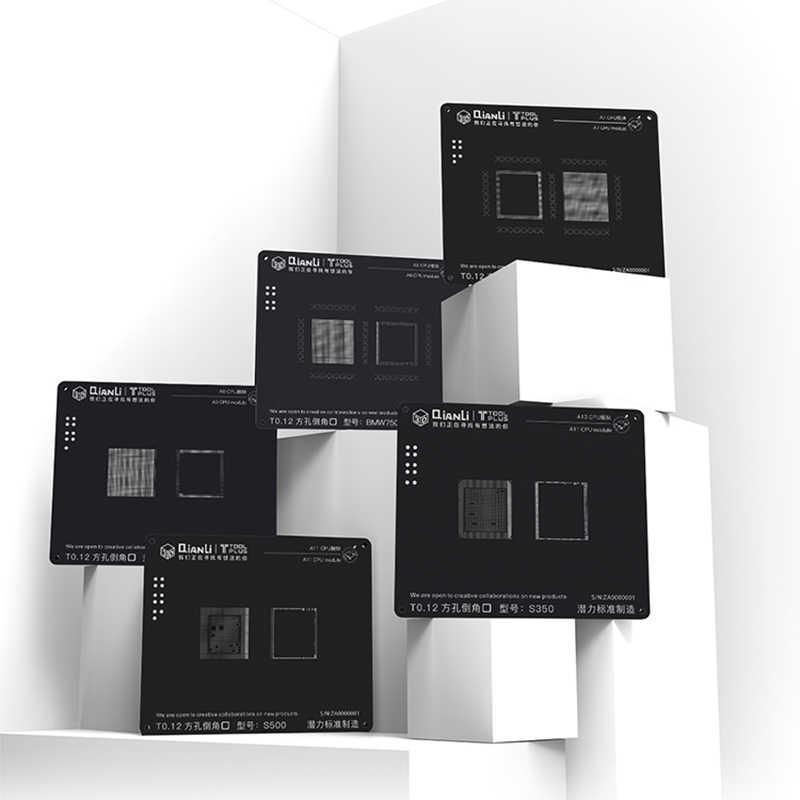 3D الأسود حقيبة الاستنسل Reballing ل فون وحدة المعالجة المركزية A7 A8 A9 A10 A11 زراعة القصدير شبكة من الفولاذ