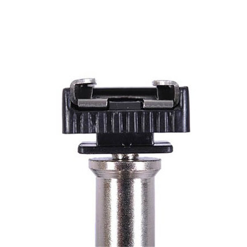 "1pc Metal Flash Hot Shoe Mount Adapter To 1/4"" Screw Studio Light Stand Tripod For Photo Studio Accessories"