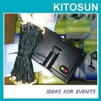 A estrenar 2 unids/lote 100 LED Solar de navidad Solar desarrollado paisajismo jardín de cuerda Favor de la boda de la batería operado luz Solar