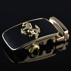 3,5 см ширина пряжки ремня для мужчин цвет серебристый, золотой лошадь животных дизайнер ремень Автоматическая пряжка ремня головок Элитный