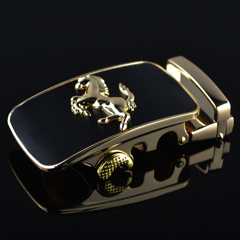 3.5cm Width Belt Buckles For Men Silver Gold Horse Animal Men Designer Automatic Belt Buckle Heads Luxury Brand LY87879