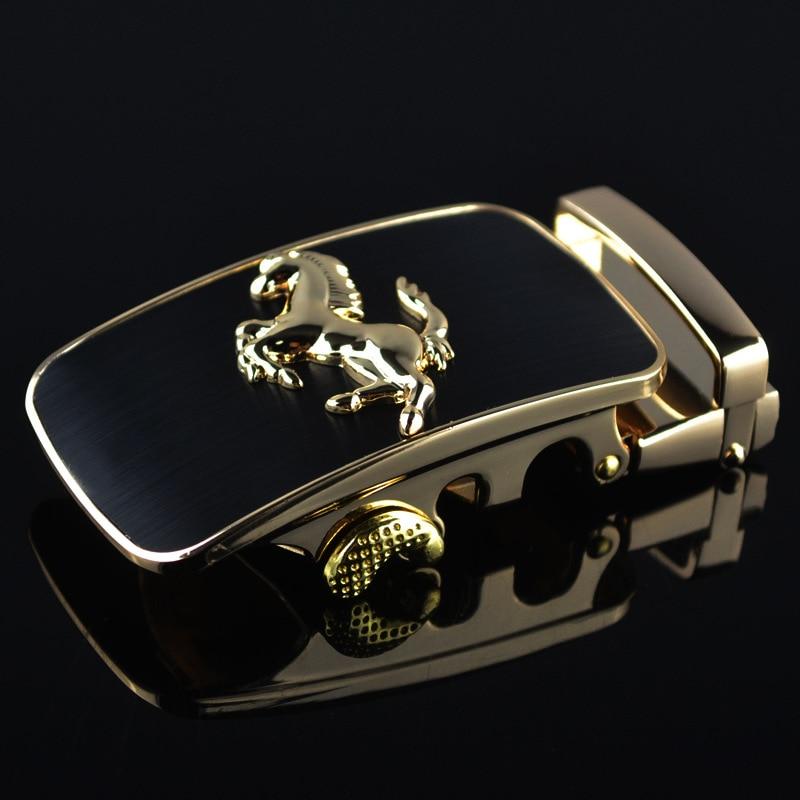 3.5cm Width Belt Buckles For Men Silver Gold Horse Animal Men Designer Automatic Belt Buckle Heads Luxury Brand LY87879