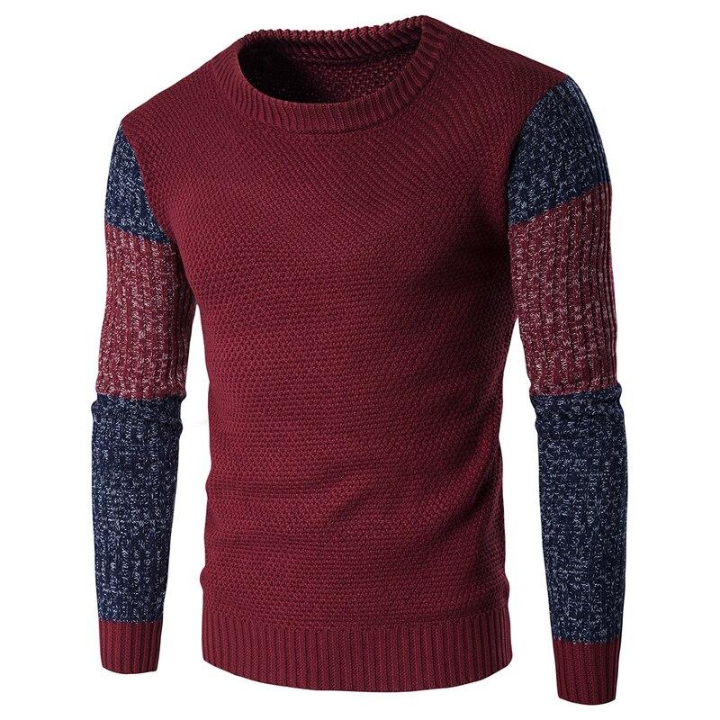 Winter Spliced Knitted font b Sweaters b font Underwear For font b Men b font American