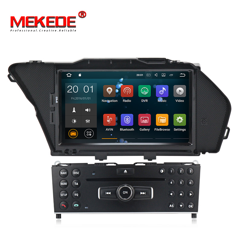 Android 7.1 Car DVD multimedia dvd player for BENZ GLK GLK X204 GLK 300 GLK 350 CAR DVD 2GB RAM+16GB wifi BT 3G free shipping
