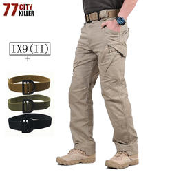 IX9 военно-тактические брюки Для мужчин с Тактический Ремни армейские брюки-карго Для мужчин военный спецназ Повседневное Многие Карманы