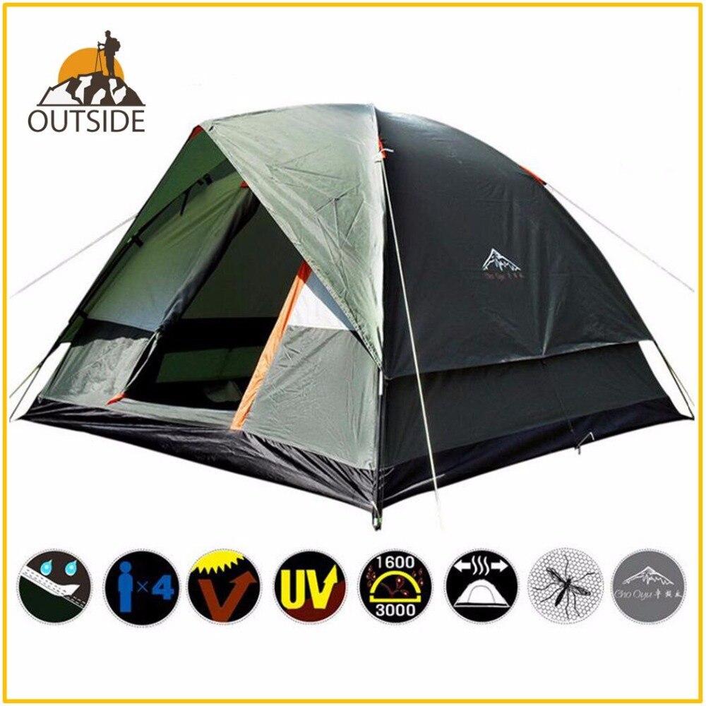 все цены на 3-4 Person Windbreak Camping Tent Dual Layer Waterproof Pop Up Open Anti UV Tourist Tents For Outdoor Hiking Beach Travel Tienda онлайн