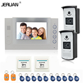 JERUAN 7 inch video door phone intercom system access control system video recording Home security system RFID open the door
