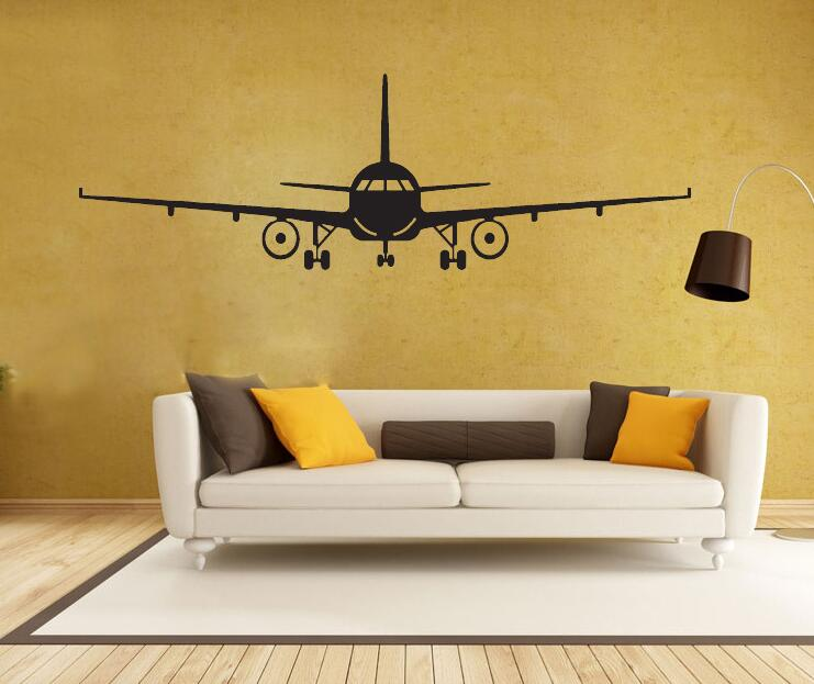 Airplane Wall Stickers Muraux Wall Decor Airplane Wall Art Decal ...