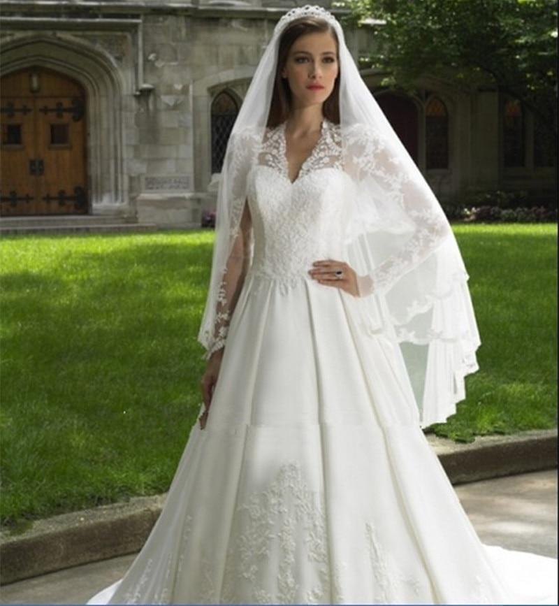 New 2015 Vintage White Lace Wedding Dresses Robe De Mariage Chapel ...