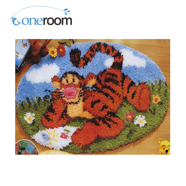 NOneroom ZD038 Tiger On Grass Hook Rug Kit DIY Unfinished
