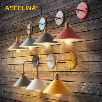 Wall Light Modern wall lamp colorful wall light Loft sconce with switch Lamp American country Living room study bedroom fixture - DISCOUNT ITEM  35% OFF All Category