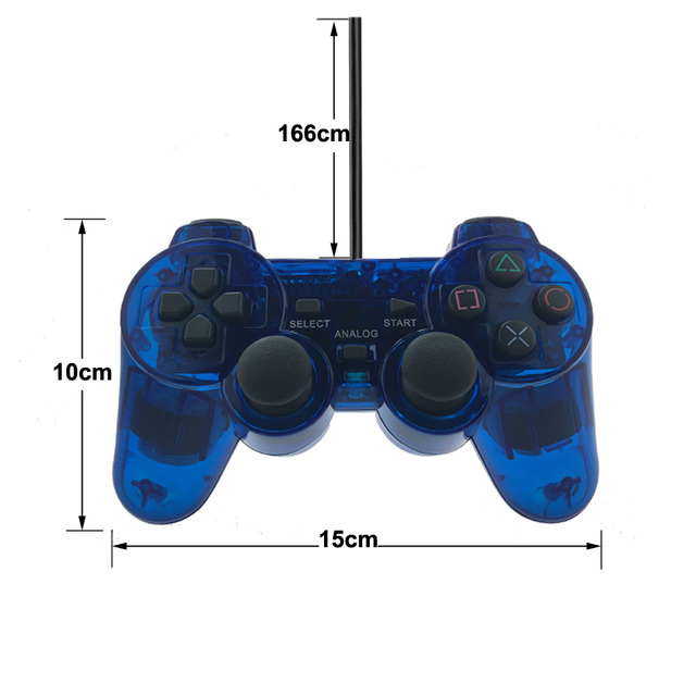 Wired Gamepad for Sony PS2 Controller for Mando PS2/PS2 Joystick for plasystation 2 Double Vibration Shock Joypad Wired Controle