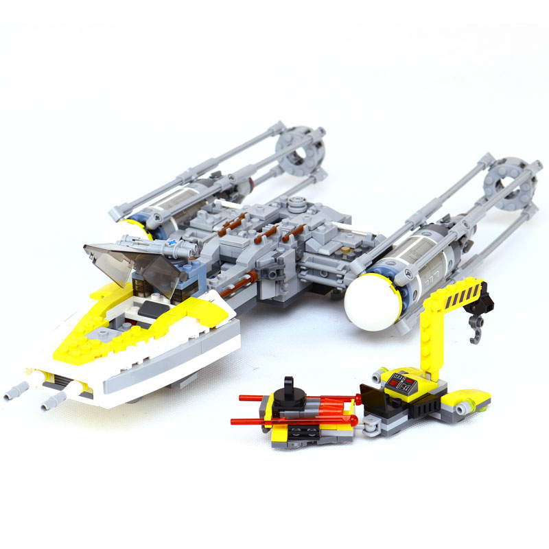 691Pcs Lepin 05065 Star Classic Wars Genuine The Y-wing Starfighter Set Building Blocks Bricks Toys LegoINGlys 75172 for kid lepin 05040 star wars y wing attack starfighter model building kits blocks brick toys compatiable with lego kid gift set