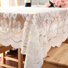 WLIARLEO White Pastoral Tablecloth Lace Fabric Wedding Table Cloth Cover Hollow Crocheted Floral tableclothes Home Decoration