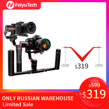 FeiyuTech a2000 Dual Handheld Gimbal Mirrorless DSLR Camera Stabilizer Anti-slip Design for Canon SONY Panasonic 2500g Payload