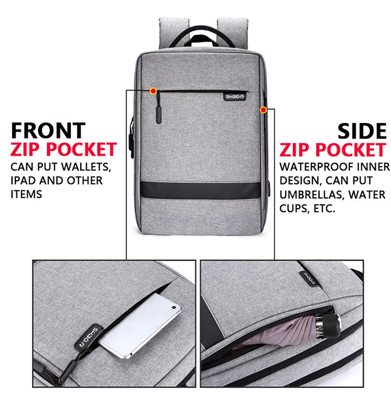 HTB1mjfoayHrK1Rjy0Flq6AsaFXan - Mens Casual USB Charging Work Backpack Large Space Short Trip Male Waterproof