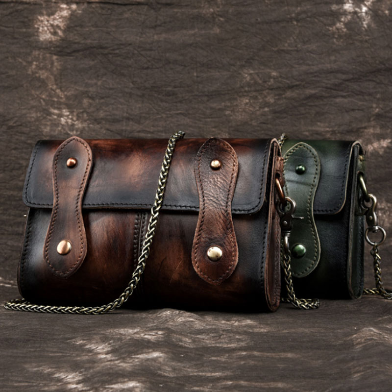 Women First Layer Cowhide Sling Cross Body Bag Vintage Trend Ladies Travel Genuine Leather Casual Messenger Shoulder Bags new top quality ladies fashion first layer cowhide handbag messenger shoulder pack cross body luxury trend bag wallet