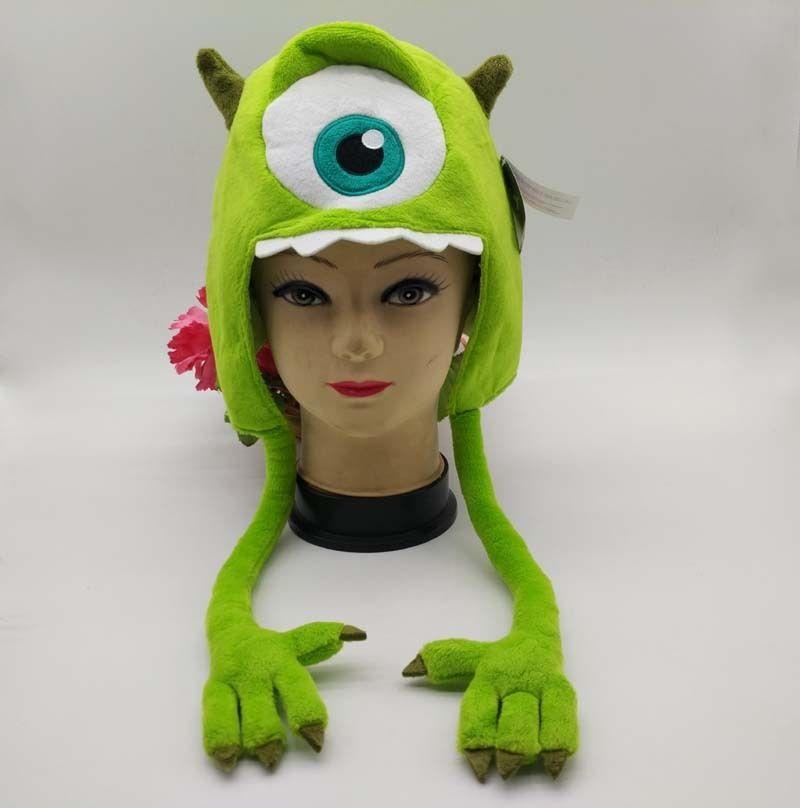 New Pixar Monsters University Mike Wazowski Cap Plush Hat Halloween Gifts Mike Wazowski Monsters Universitymike Monsters University Aliexpress