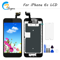 10PCS Lot Screen Replacement For IPhone 6S LCD Display Touch Screen Assembly With Front Camera Home