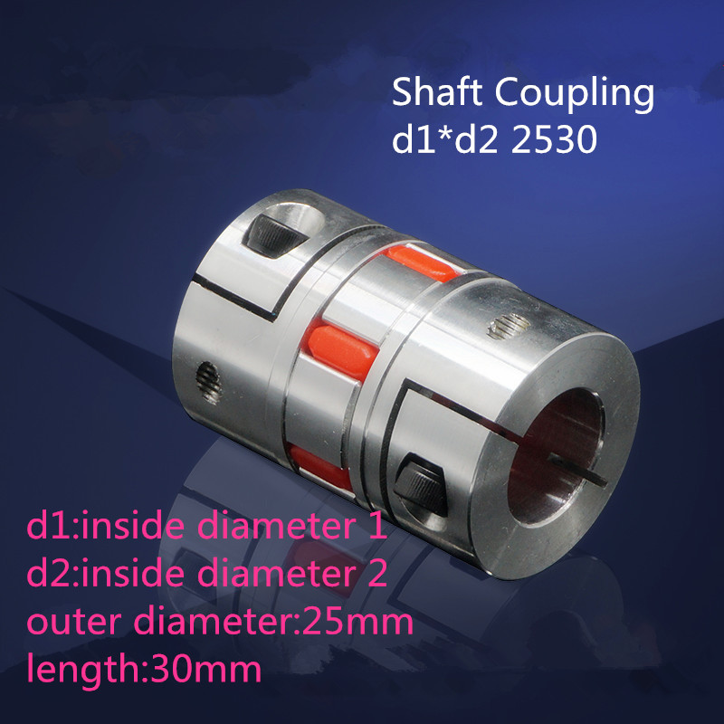 1PCS YT1440 Aluminum Alloy Elastic Coupling Servo Motor Motor Coupling Shaft Coupling BF d1*d2 2530 For example 6*10 2530 shaft coupling machine coupling aluminium coupling cnc motor coupling