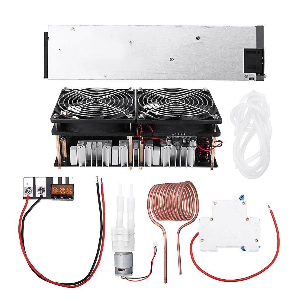 2500 ワット 48 V 50A ZVS 誘導加熱モジュール高周波加熱機溶融金属コイル電源フルキット -    グループ上の 電子部品
