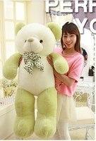 big lovely new plush Teddy bear toy stuffed light green teddy bear with bow birthday gift about 140cm