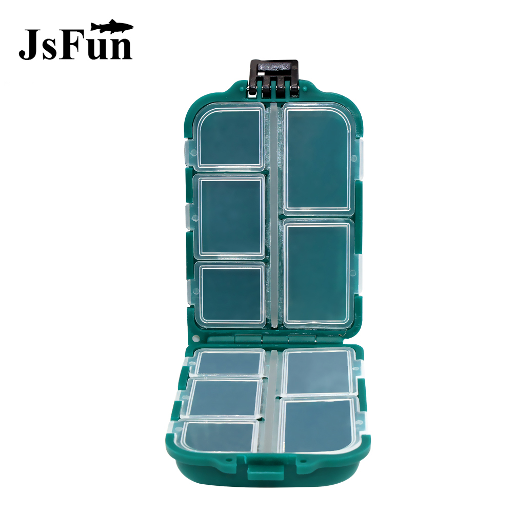 JSFUN Carp Fishing Tackle Box Fishing Lure/Bait/Hook/Lead Sinker Storage Box 10 Compartment Case Accessories Plastic PJ12